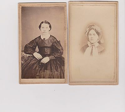 civil war photo CDV lot 2 women bonnet Matson Otis Cuba N.Y. ambrotype specials
