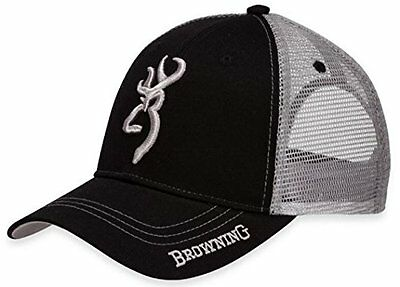 Browning Cache Cap,Black/Gray Hat New, Licensed