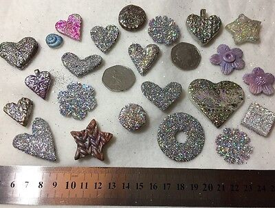 Joblot Card And Fimo Scrapbooking Craft Embellishment Clearance Jewellery Lot Q