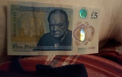 £5 pound note aa01 low number