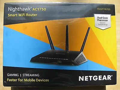NETGEAR Nighthawk AC1750 Smart Dual Band WiFi Router (R6700)