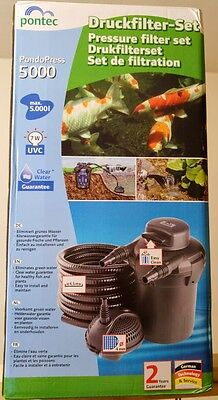 5000 Pontec PondoPress 5000 Pressurised Pond Filter Kit - NEW