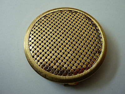 Powder Compact Gold Plated