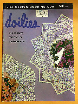 VTG Lily Design Doilies Booklet 208 Tatting Crochet Hairpin Lace Ruffled Pattern