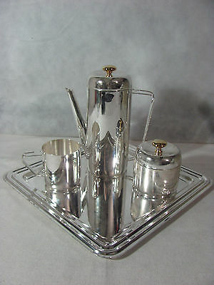 Davco Silver Ltd Silverplated/Goldplated 4 pc Coffee Set