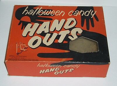 Vintage HAND OUTS Halloween Candy Box