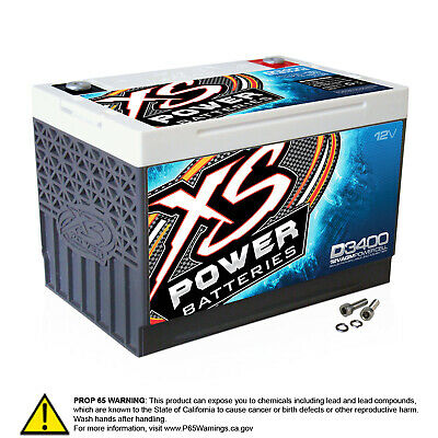Xs Power D3400 12v Agm High Output Battery (bci Group 34) 3300 Max Amps Ca;1000