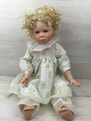 Elite Dolls Fine Porcelain Girl Doll Limited Edition Christine COA Collectible