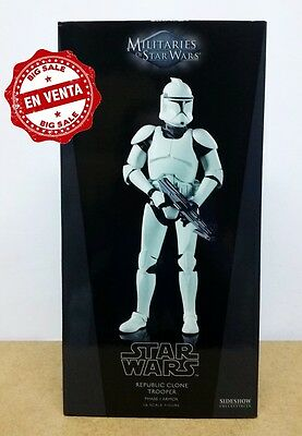 """Sideshow Star Wars Clone Trooper Attack of the Clones version 1/6 scale 12"""" inch"""