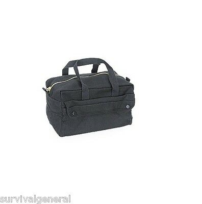 Black Tool Bag Military Heavy Weight Cotton Canvas Medic Mechanics Brass Zipper