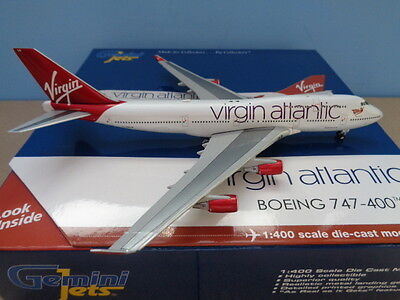 Gemini Jets 1:400, Virgin Atlantic ,boeing 747-400, G-Vxlg