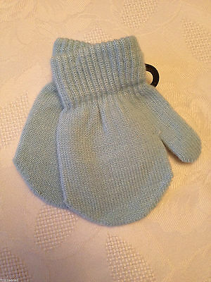 Brand New Baby Boy Or Girls Blue Mittens, Mitts 2 Pairs