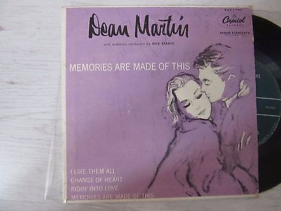 """EP.   DEAN MARTIN  Memories Are Made Of This RARE U.S.A. 7"""" !!!"""