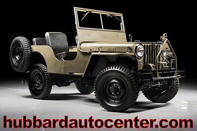 1947 Jeep CJ Fully Restored Excellent Example! 1947 Jeep Willys, Excellent Example of a Fully Restored Military Jeep!