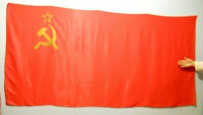 Original Big Soviet Union Russian Communist Red Flag made in USSR