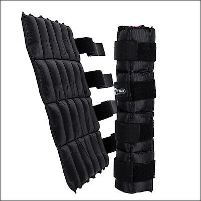 Black Horze Cooling Leg Wraps Cold Therapy Horse Leg Protection Pair