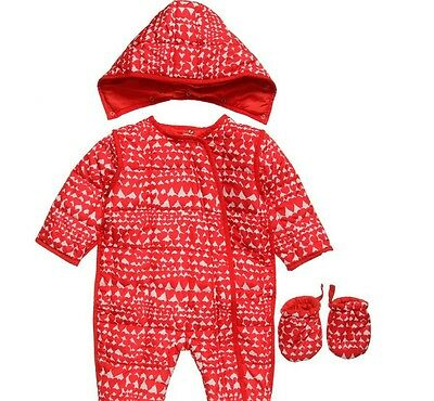 BNWT Stella McCartney Kids Wiggles Age 2 years Heart Snowsuit Pram Suit RRP:£125