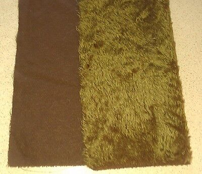 Schulte Mohair  Hand dyed 51x36cm short wavey 1cm  pile dark backing + suede