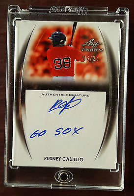 2014 - Leaf Trinity - #A-RC2 - Rusney Castillo - Rookie Card - Signed