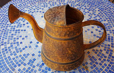 Antique Look Rusted Large Watering Can For Floral Arrangement or Watering Garden
