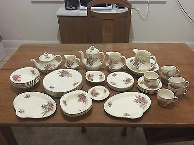 Alfred Meakin Braemar Dinner Service - With Coffee Pot & Teapot - Rare