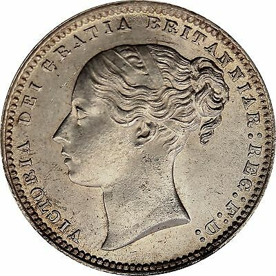 1870 Shilling English Silver Coin From Victoria (1837-1901)