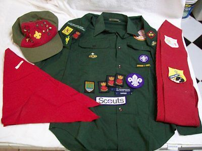 Vintage Boy Scout Shirt, Hat, Scarf, Sash, & Patches From  Hampshire England