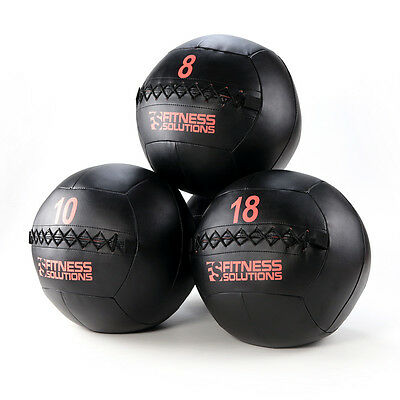 Wall Ball 6 LB Fitness Solutions Med Ball Medicine weighted fitness Ships Free!