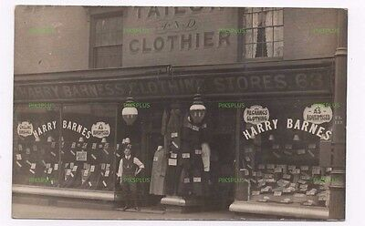 Old Postcard Barness Clothing Stores Stafford Street Birmingham Real Photo C1910