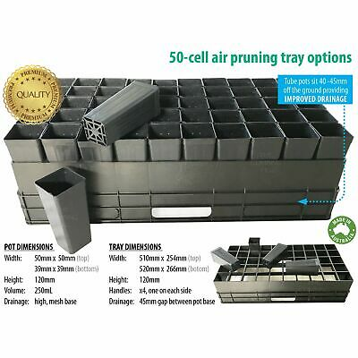 50-cell Trays & 50mm native / forestry tube pots. Plant seedling propagation.