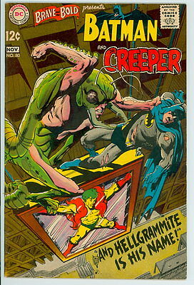 Brave and the Bold #80 D.C. 1968 VF- Batman and Creeper – Neal Adams Cover/Art