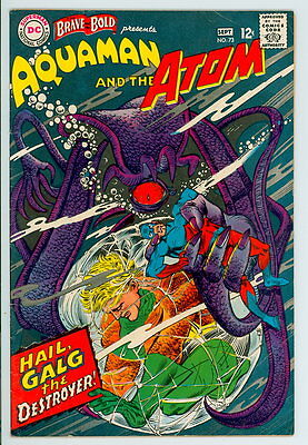 Brave and the Bold #73 D.C. 1967 F/VF Aquaman and Atom 1st Vulko -Justice League
