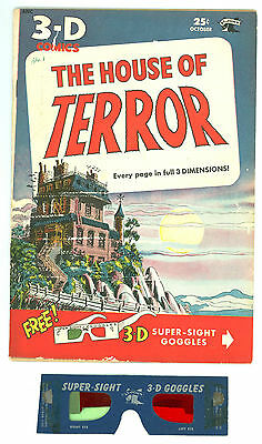 House of Terror #1 (3D) – St. John Publications 1953 F With Original Glasses