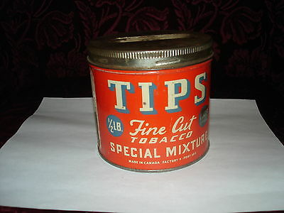 tips fine cut tobacco tin with lid