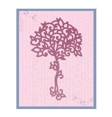 Ultimate Crafts - Impression Die - Magnolia Collection - Magnolia Tree (ULT15751