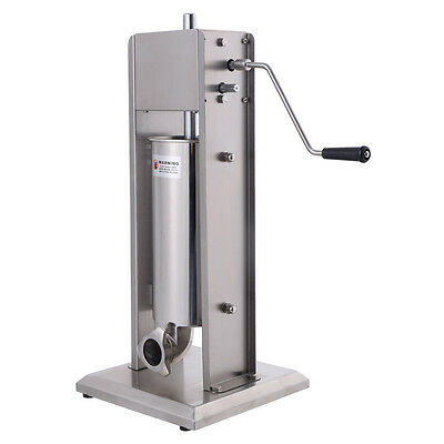 5L Vertical Sausage Stuffer Meat Filler Stainless Steel 11LB 2 Speed Commercial