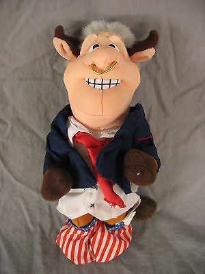 Meanie Beanie Babies Infamous Series BULL BILL CLINTON Political Funny Novelty
