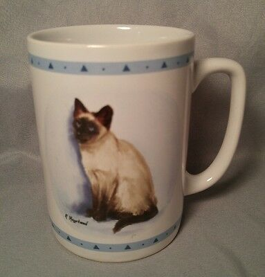 Vintage Papel  Siamese Cat Coffee Tea Mug Cup - R. Maystead Portraits Kitchen