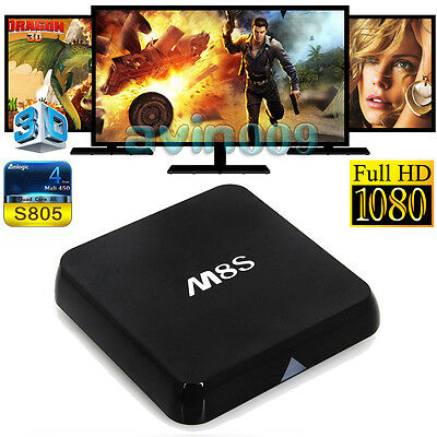 M8S S805 1G+8G Smart TV Box Android Quad Core Fully Loaded Free Movie Sports#1