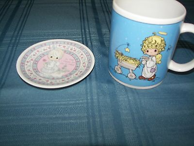 Best Friends Precious Moments Mini Plate Plaque & Coffee - Tea - Hot Chocolate M