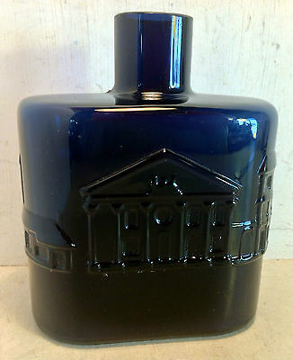 Nuutajarvi Notsjo Art Glass Bottle, Cobalt Blue, 'Sydney in the 1840's' (4858)