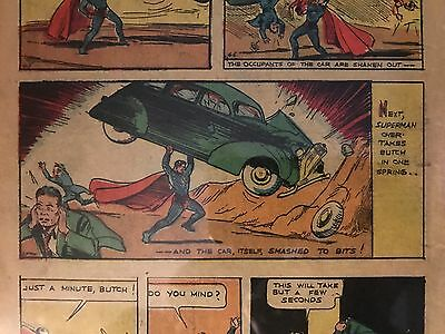 Superman #1 DC 1939 CGC NG (Page Features the Art from 1938 Action Comics Cover)