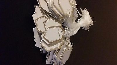100Pcs Tie On String Label Jewelry Display Watch Clothing Price Tags
