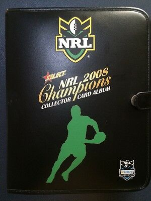 NRL Select Champions 2008 Complete Collector Card Album