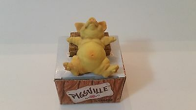 """Ganz PIGSVILLE """"Naptime"""" - PM 1306 1992 with Box! Mint Condition"""