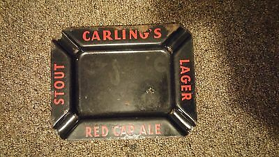 CARLING's Red Cap Ale Beer Enamel ASHTRAY