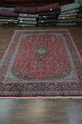 Semi Antique Traditional Plush Red Mashad Persian Rug Oriental Area Carpet 10X13