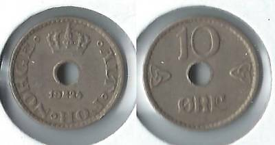 1924 Norway 10 ore coin
