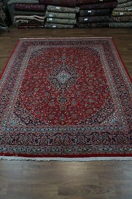Classic Hand Knotted Red Mashad Persian Rug Oriental Area Carpet Sale 10X13