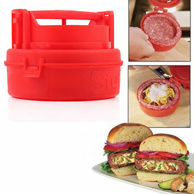New STUFZ Stuffed Burger Press Hamburger Grill BBQ Patty Maker Juicy